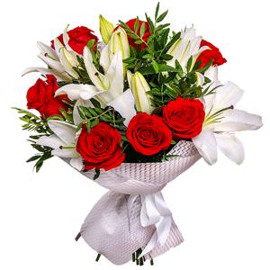 """цветы ко дню матери Букет """"Дуэт"""""""
